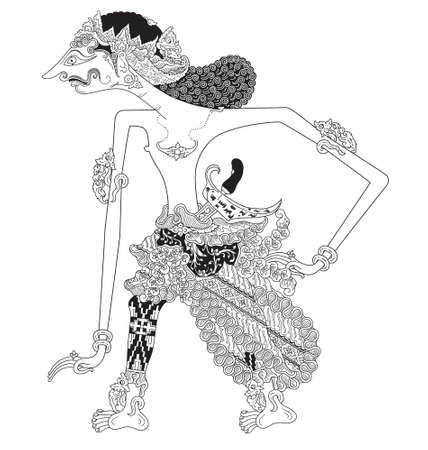 Udawa, a character of traditional puppet show, wayang kulit from java indonesia.