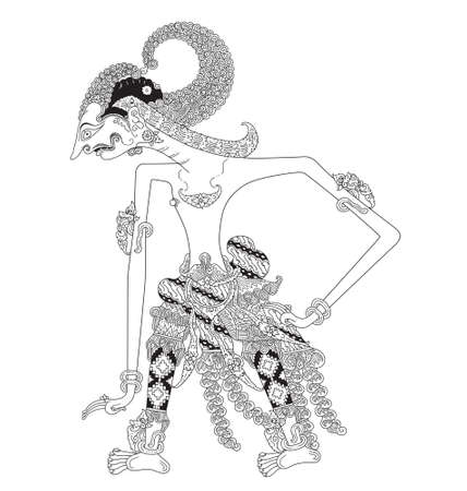 Utara, a character of traditional puppet show, wayang kulit from java indonesia.