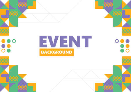 Colorful layout design for events, festivals, and art performances.