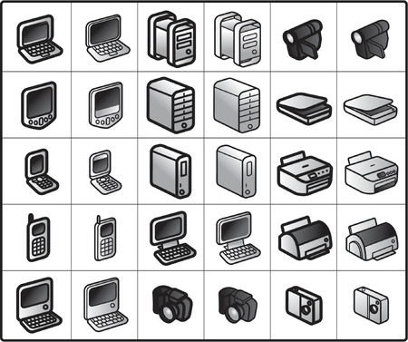 vector icons for network structure #computers Stock Vector - 825897