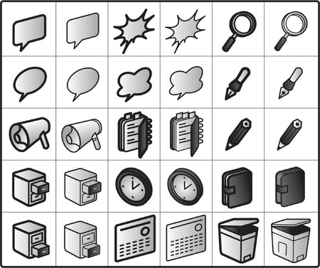 pocketbook: vector icons for network structure #group-ware