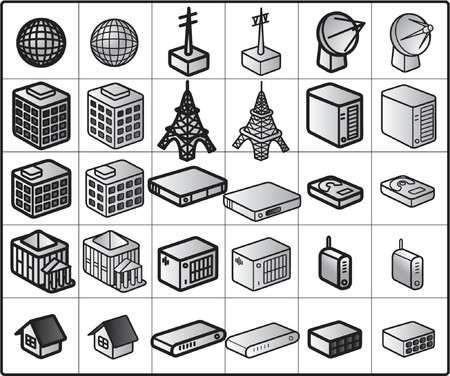 harddisc: vector icons for network structure #wireless Illustration