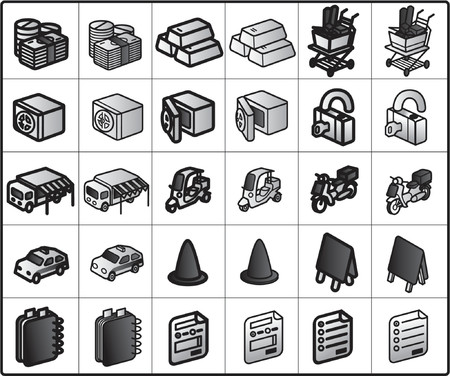 strongbox: Icons for network structure #shopping2 Illustration