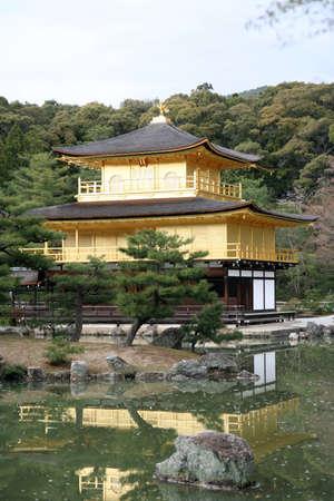 Japan golden temple in Kyoto Kinkakuji Stock Photo - 828877