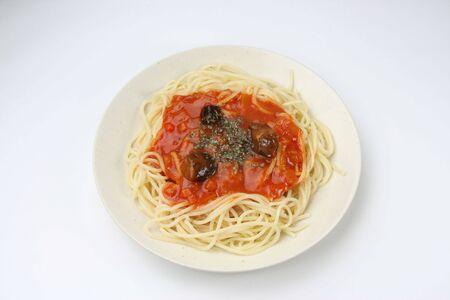 pasta on the white dish Stock Photo - 6074868