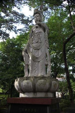 a statue of Buddhist saint Stock Photo