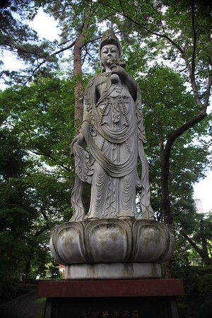 a statue of Buddhist saint Stock Photo