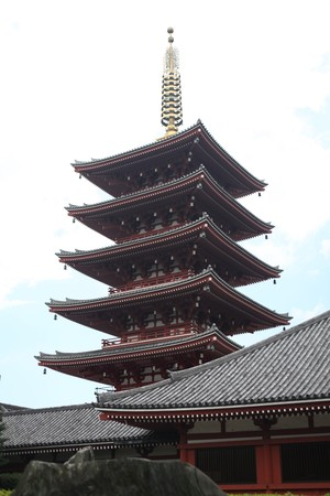 Asakusa Buddhist tower Editorial