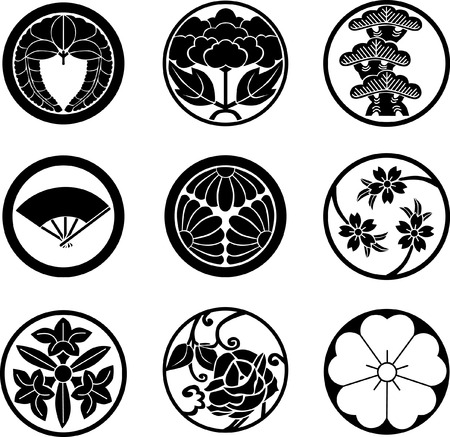 white fan: Japanese Family Crests