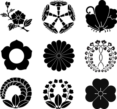 swallowtail: Japanese Family Crests Illustration