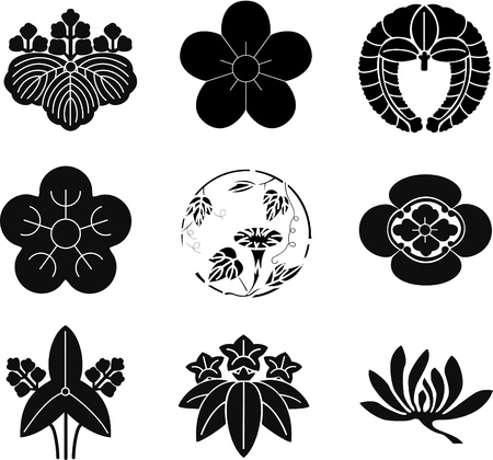 gourds: Japanese Family Crests Illustration