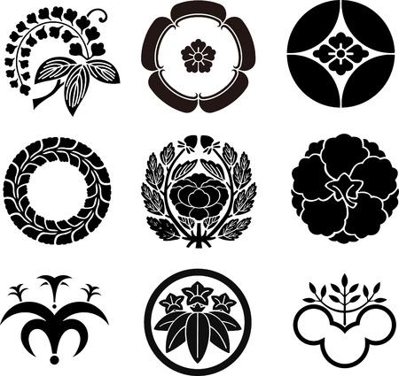 japanese symbol: Japanese Family Crests Illustration