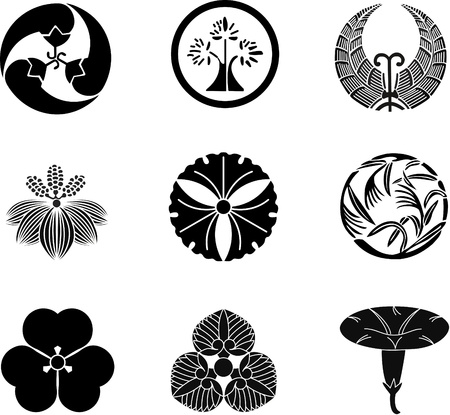 japanese symbol: Japanese Family Crests (vector) 11