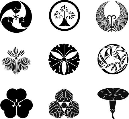 crests: Stemmi di famiglia giapponese (vector) 11 Vettoriali
