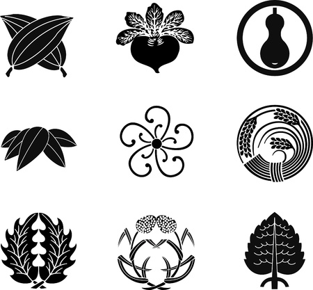 millet: Japanese Family Crests (vector) 12