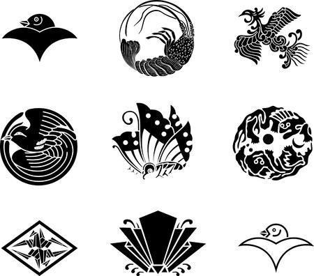 日本の家紋 写真素材 - 9933950
