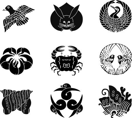 日本の家紋 写真素材 - 9933953