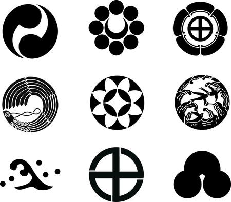 wave crest: Japanese Family Crests