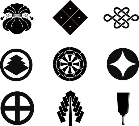 Japanese Family Crests  Vector