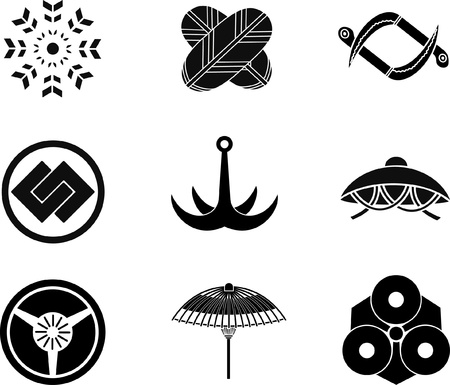 japanese fan: Japanese Family Crests