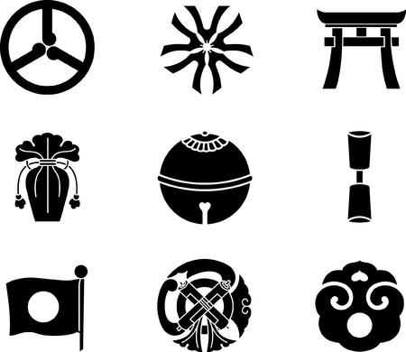 shrine: Japanese Family Crests Illustration