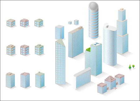 vector buildings to create a structures. Stock Vector - 11135360