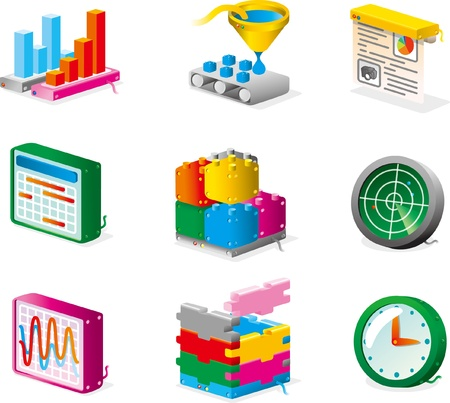 vector icons for net services and developments