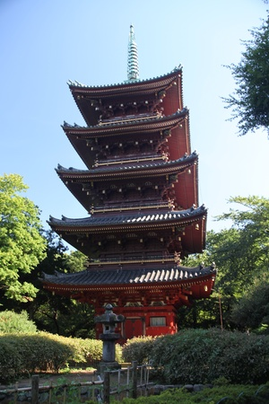 Ueno Buddhist tower Editorial