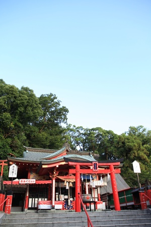 Red Shinto shrine