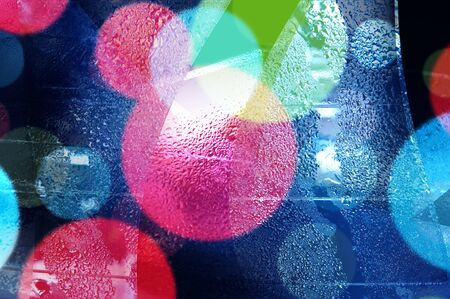 condensing: Abstract bokeh and droplets for colorful background Stock Photo