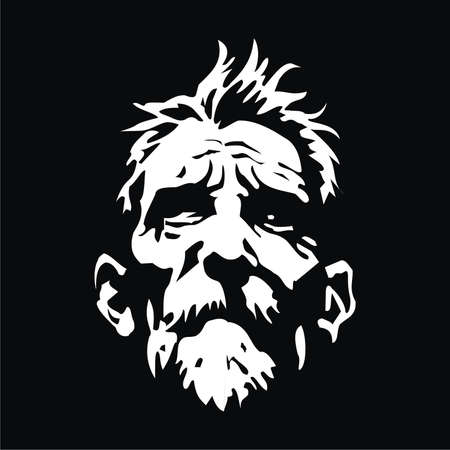 face old man Vettoriali