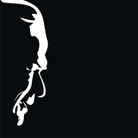 silhouette of an old man