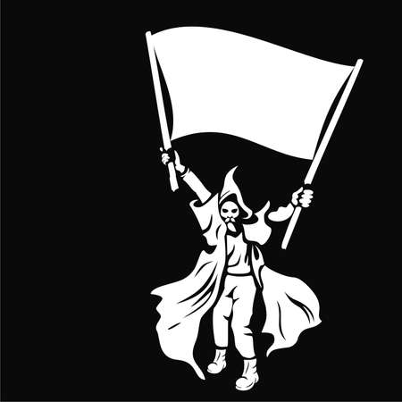 warrior with a flag