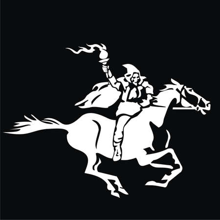 Reiter mit einer Fackel