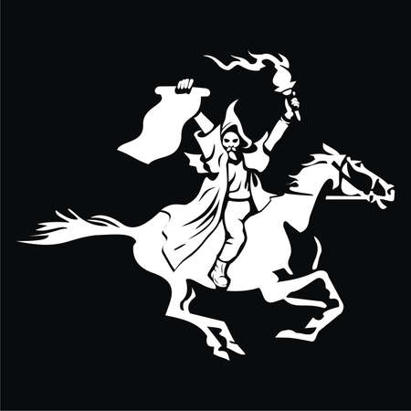 Horseman with the order and torch Illustration