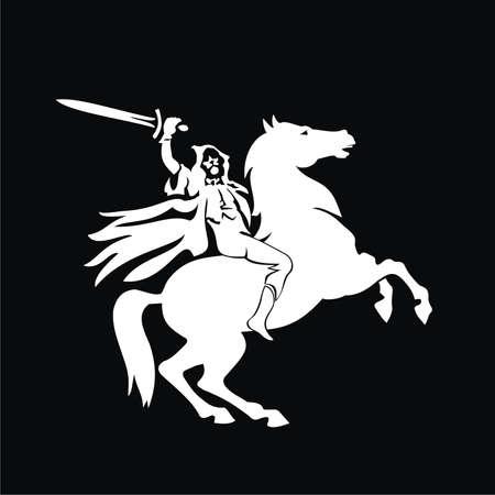 Horseman with sword