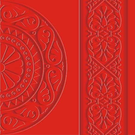 Vintage background red Illustration