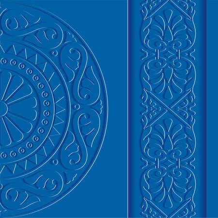 Vintage background blue