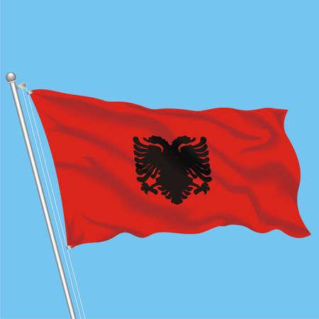Developing flag of Albania Stock Vector - 79575990