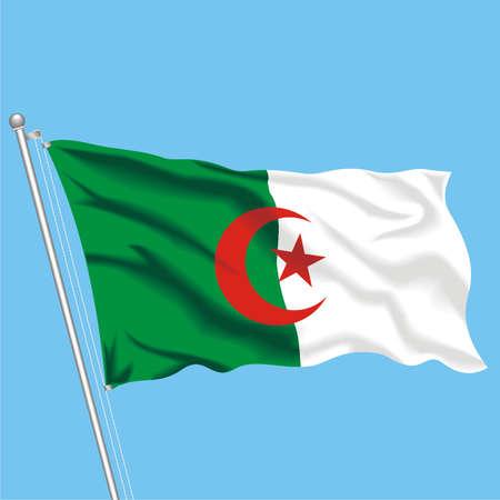 Developing flag of Algeria