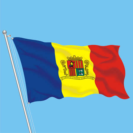 Developing flag of Andorra Illustration