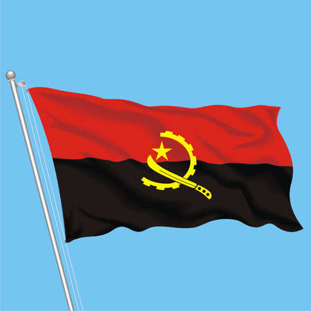 Developing flag of Angola Stock Vector - 79576001