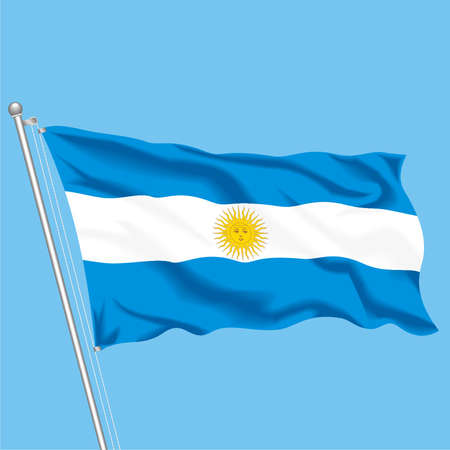 Developing flag of Argentina Illustration