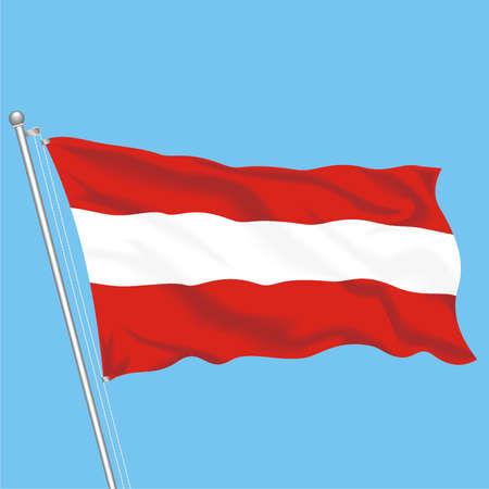 Developing flag of Austria Illustration