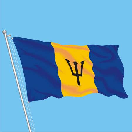 Developing flag of Barbados