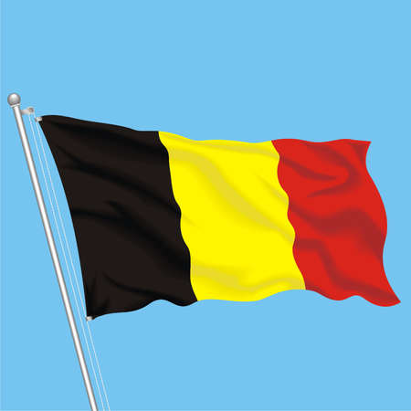 Developing flag of Belgium Stock Vector - 79576012