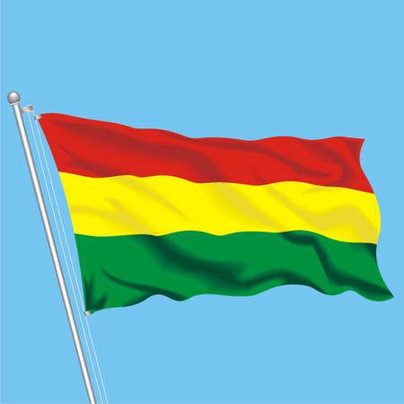 Developing flag of Bolivia Illustration
