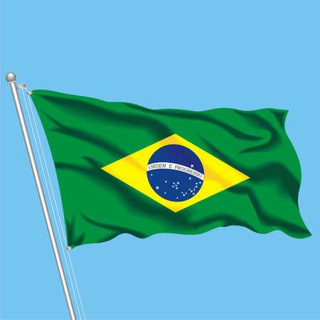 Developing flag of Brazil Stock Vector - 79576047