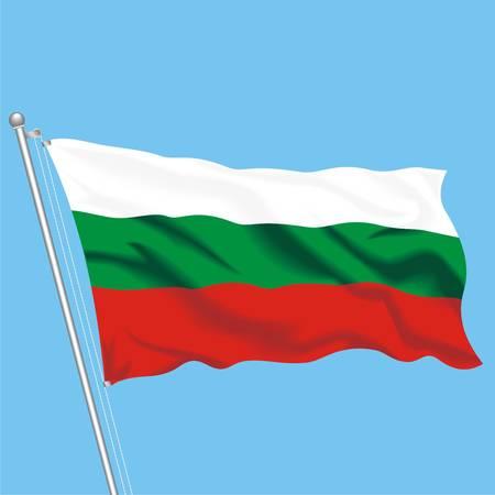 Developing flag of Bulgaria