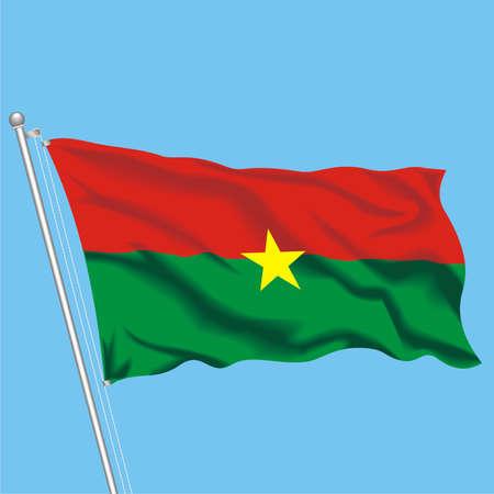 Developing flag of Burkina Faso Stock Vector - 79576027